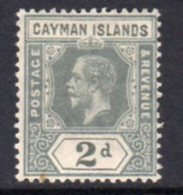 Cayman Islands GV 1912-20 2d Pale Grey, Wmk. Multiple Crown CA, Hinged Mint, SG 43 - Cayman Islands