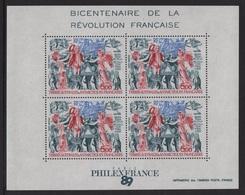 TAAF - BF N°1 - ** - Bicentenaire Revolution Francaise - Cote 12.50€ - Blocs-feuillets