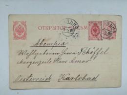 Old Post Card Carte Postal Stationery Lithuania Wilna Wilno Vilnius Russian Empire Period 1909 Sent To Austria - Litauen