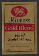 Etiquette Whisky Kinross Gold Blend Whisky Label - Whisky