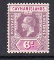 Cayman Islands GV 1912-20 6d Dull & Bright Purple, Wmk. Multiple Crown CA, Hinged Mint, SG 47 - Cayman Islands