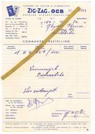Brussel - Bruxelles: 1954, Cahiers De Paiers à Cigarettes   AIG-ZAG & OCB   Boekjes Sigarettenpapier. - Belgique