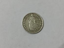MONETA Svizzera Switzerland 1/2 Franco 1916  Franc Argento Silver    Helvetia - Svizzera