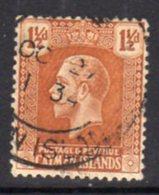Cayman Islands GV 1921-6 1½d Orange-brown, Wmk. Multiple Script CA, Used, SG 72 - Cayman Islands