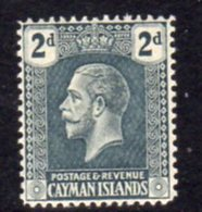 Cayman Islands GV 1921-6 2d Slate-grey, Wmk. Multiple Script CA, Hinged Mint, SG 73 - Cayman Islands