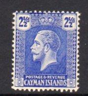 Cayman Islands GV 1921-6 2½d Bright Blue, Wmk. Multiple Script CA, Hinged Mint, SG 74 - Cayman Islands