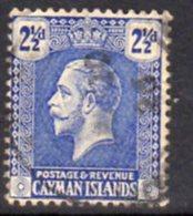 Cayman Islands GV 1921-6 2½d Bright Blue, Wmk. Multiple Script CA, Used, SG 74 - Cayman Islands