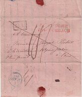 AUTRICHE : MP .LA ENCADREE . AUTRICHE PAR FORBACH EN ROUGE . TAXEE . 1835 . - Autriche