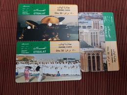 3 Phonecards UAE Used Rare - Ver. Arab. Emirate