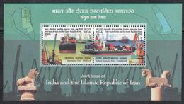INDIA 2018 INDIA IRAN Joint Issue Ports, Ships MS  Miniature   Sheet, MNH(**) - India