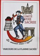 Cpm 55 FLEURY  Memorial De VERDUN Comite Voie Sacree PARCOURS DE LA FLAMME SACREE - Frankreich