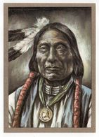 Thème  Indiens -- HAUPTLING  RED CLOUD   --- Illustrateur Et Texte  K-D  KUBAT - Native Americans