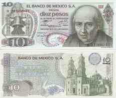 Mexico P-63e  10 Pesos  1972  UNC - Mexico