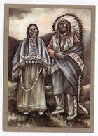 Thème  Indiens -- INDIANISCHES PAAR   --- Illustrateur Et Texte  K-D  KUBAT - Indiens De L'Amerique Du Nord