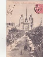 CPA -  35. DIJON Rue Mariotte Et Cathédrale St Bénigne - Dijon