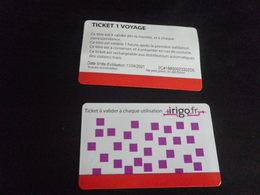 Titre De Transport ANGERS - IRIGO - BUS 1 Voyage - Bus