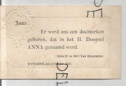 Anna Van Hollebeke Geboren Op 06/10/1922 Te Wyngene. - Naissance & Baptême