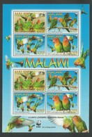 2009 Malawi WWF Lilian's Lovebird Minisheet (** / MNH / UMM) - Neufs