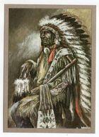 Thème  Indiens -- DAKOTA-HAUPTLING  --- Illustrateur Et Texte  K-D  KUBAT - Indiens De L'Amerique Du Nord