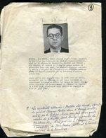 Résistance - Fiche De Mr Multon Dit Lunel ( Livra Nombre De Patriotes Dont Le Général Chevance - Bertin )- Rare Document - Documents
