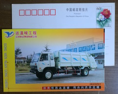 Rear Compression Type Garbage Truck,China 2004 Yueda Group Warm Project Advertising Pre-stamped Card - Trucks