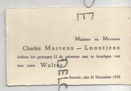 Walter Martens Geboren Op 31/12/1938 Te Aarsele. - Naissance & Baptême