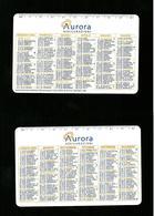 Calendarietto Pubblicitario 2005 - Aurora Assicurazioni - Calendari