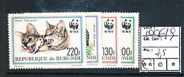 BURUNDI 2004 ISSUE ANIMALS WWF COB 1006/1009 MNH - Burundi