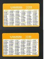Calendarietto Pubblicitario 2011 - Aurora Assicurazioni - Formato Piccolo : 2001-...