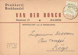 PK Publicitaire MAASEIK 1959 - VAN DER DONCK - Drukkerij - Boekhandel - Maaseik