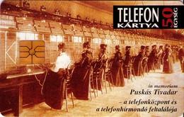 TARJETA TELEFONICA DE HUNGRIA. Puskás Tivadar. HU-P-1993-15 (196) - Hungría