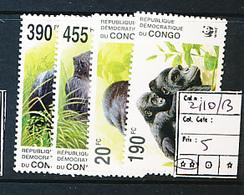 CONGO KINSHASA COB 2110/13 MNH - République Démocratique Du Congo (1997 -...)