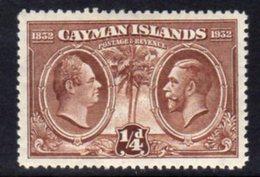 Cayman Islands GV 1932 Centenary Of Assembly ¼d Value, Hinged Mint, SG 84 - Cayman Islands