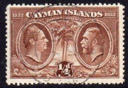 Cayman Islands GV 1932 Centenary Of Assembly ¼d Value, Used, SG 84 - Cayman Islands