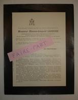 FAIRE-PART DECES 1910 LEJEUNE VERON PENOT DESOUBSDANES MAUGARS Pithiviers Loiret - Décès