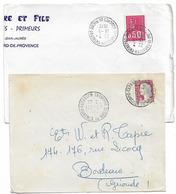 ENTREPOT TARASCON BOUCHES DU RHONE 1964 1972 A8 A9 - Postmark Collection (Covers)