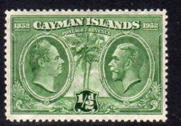 Cayman Islands GV 1932 Centenary Of Assembly ½d Value, Hinged Mint, SG 85 - Cayman Islands
