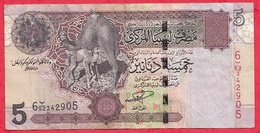 Libye 5 Dinars 2002 (sign 5 ) Dans L 'état (13) - Libye