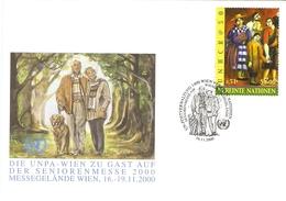 Nations-Unies Vienne 2000/1 - Petit Lot De 7 Enveloppes Officielles Avec Cachets événementiels - Sonderflugpost - Senior - Centre International De Vienne