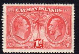 Cayman Islands GV 1932 Centenary Of Assembly 1d Value, Hinged Mint, SG 86 - Cayman Islands