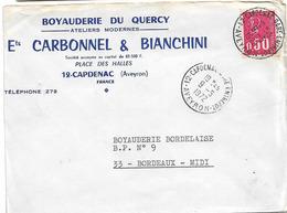 ENTREPOT CAPDENAC GARE AVEYRON 1972 A9 - Storia Postale