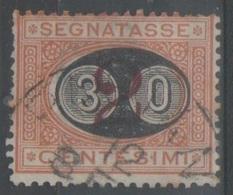ITALIA 1891 - Segnatasse 30 C. Su 2 C. - Impuestos
