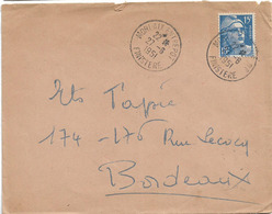 ENTREPOT MORLAIX FINISTERE 1951 A6 - Storia Postale