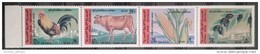 Syria 1969 Mi 1087-1090 MNH Complete Issue - One Pane Of 4v. - Agriculture Museum In Damascus - Syrie