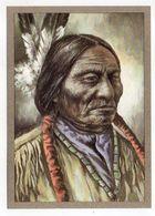 Thème  Indiens -- HAUPTLING SITTING BULL --- Illustrateur Et Texte  K-D  KUBAT - Indiens De L'Amerique Du Nord