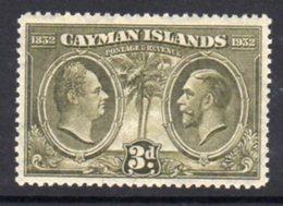 Cayman Islands GV 1932 Centenary Of Assembly 3d Value, Hinged Mint, SG 90 - Cayman Islands