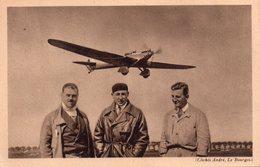 CPA Le Trait D'union, Avion De Raid Dewoitine D.33 Hispano Suiza 650 Ch Et Son équipage Doret, Le Brix, Mesmin - Flieger