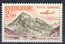 +D3030. Andorra 1961. Airmail. Vallée D'Inclès. Michel 175. MNH(**) - Poste Aérienne