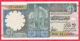 Libye 1/4 Dinar  1991 (sign 3 ) En UNC (16) - Libia