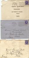 Grande-Bretagne à France 1935/36 - 5 Lettres De Hammersmith à M. Tabard à Boussaléchat Par Peyrat-la-Nonière - Creuse - France